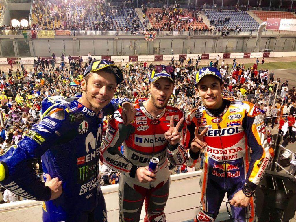 Podio Moto GP Qatar 2018