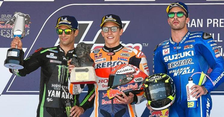 Podium Moto GP Jerez